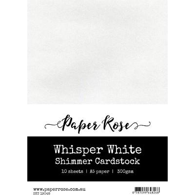 A5 Shimmer Cardstock, Whisper White (10pc)