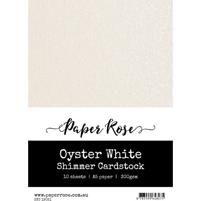 A5 Shimmer Cardstock, Oyster White (10pc)