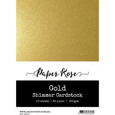 A5 Shimmer Cardstock, Gold (10pc)