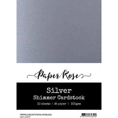 A5 Shimmer Cardstock, Silver (10pc)