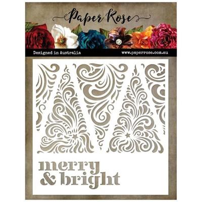 Stencil, Merry & Bright