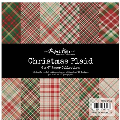 6X6 Paper Collection, Christmas Plaid