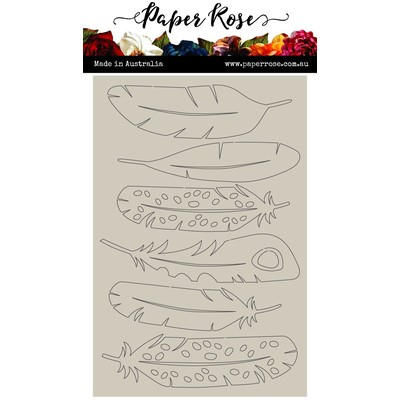 Chipboard Embellishments, Large Feathers