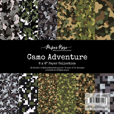 6X6 Paper Collection, Camo Adventure