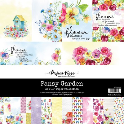 12X12 Paper Collection, Pansy Garden