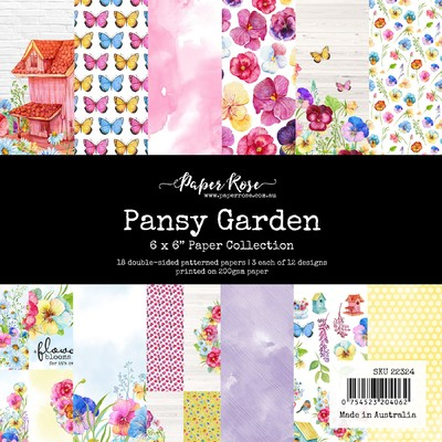 6X6 Paper Collection, Pansy Garden