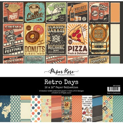 12X12 Paper Collection, Retro Days