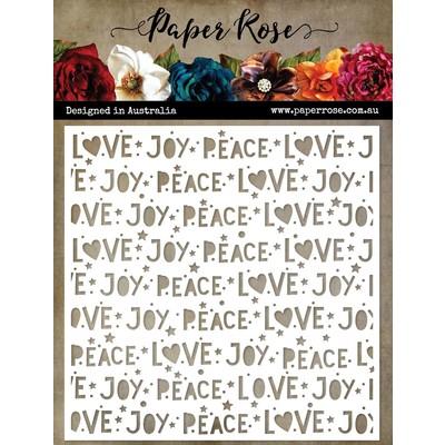 Stencil, Peace Love Joy