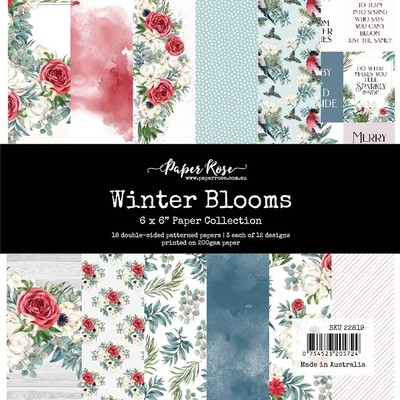 6X6 Paper Collection, Winter Blooms