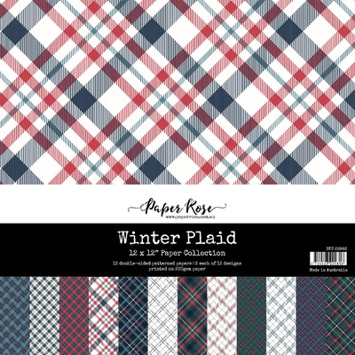 12X12 Paper Collection, Winter Plaid