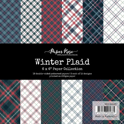 6X6 Paper Collection, Winter Plaid