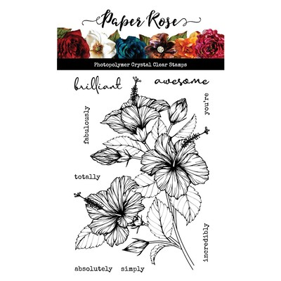 Clear Stamp, Sketchy Hibiscus