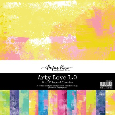 12X12 Paper Collection, Arty Love 1.0