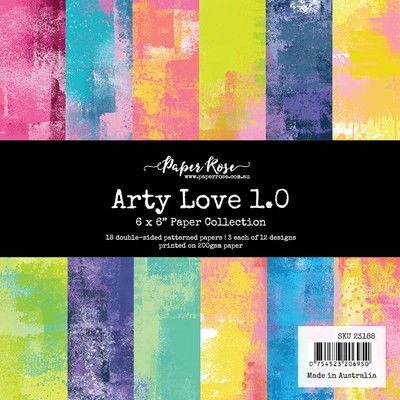 6X6 Paper Collection, Arty Love 1.0