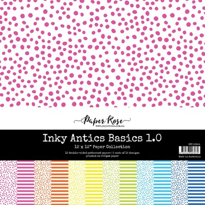 12X12 Paper Collection, Inky Antics Basics 1.0