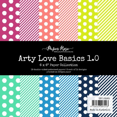 6X6 Paper Collection, Arty Love Basics 1.0