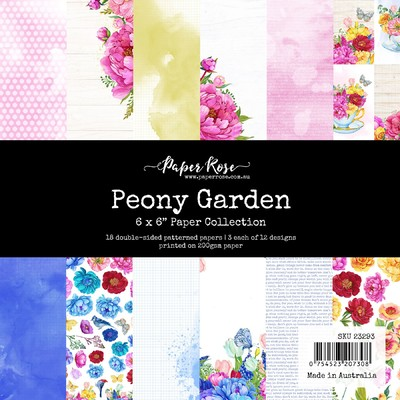 6X6 Paper Collection, Peony Garden