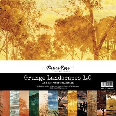 12X12 Paper Collection, Grunge Landscapes 1.0