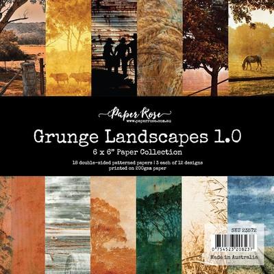 6X6 Paper Collection, Grunge Landscapes 1.0