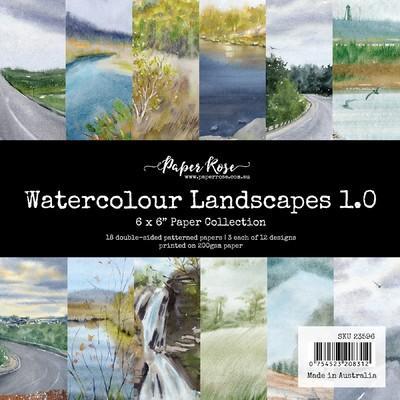 6X6 Paper Collection, Watercolour Landscapes 1.0