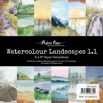 6X6 Paper Collection, Watercolour Landscapes 1.1