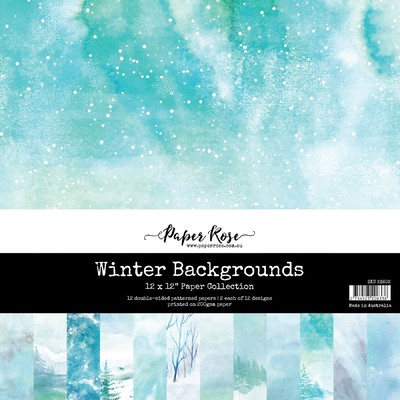 12X12 Paper Collection, Winter Backgrounds