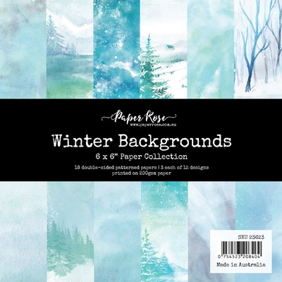 6X6 Paper Collection, Winter Backgrounds