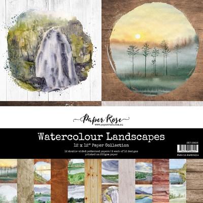 12X12 Paper Collection, Watercolour Landscapes
