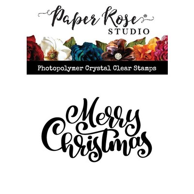 Clear Stamp, Merry Christmas Bold Script