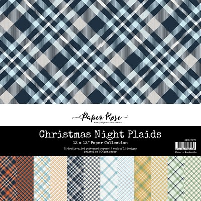 12X12 Paper Collection, Christmas Night Plaids