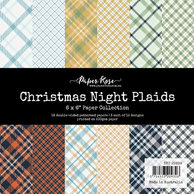 6X6 Paper Collection, Christmas Night Plaids