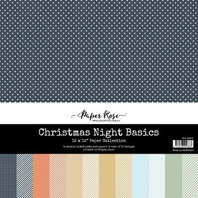 12X12 Paper Collection, Christmas Night Basics