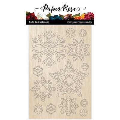 Wood Embellishments, Snowflake Ornaments