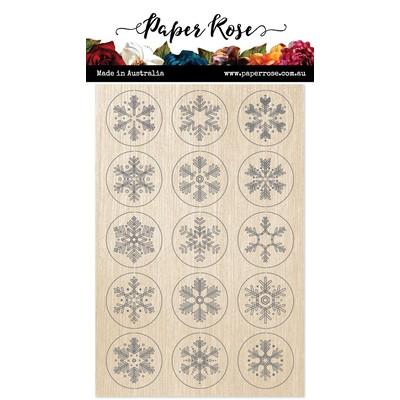 Wood Embellishments, Snowflake Circles