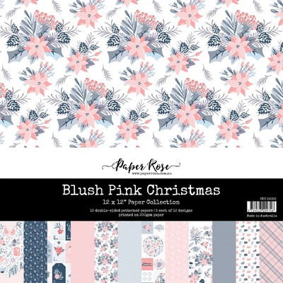 12X12 Paper Collection, Blush Christmas