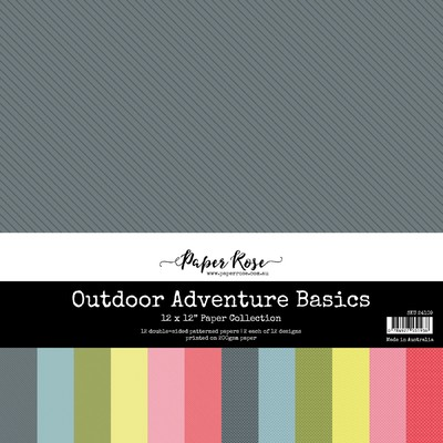 12X12 Paper Collection, Outdoor Adventure Basics