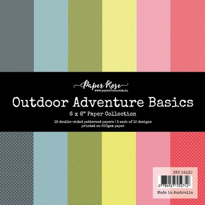 6X6 Paper Collection, Outdoor Adventure Basics