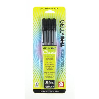 Gelly Roll Classic Pen Set, 06 Fine - Black (3 pk)