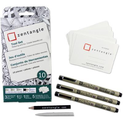 Zentangle Tool Set, Atc White Tile (10 pc)