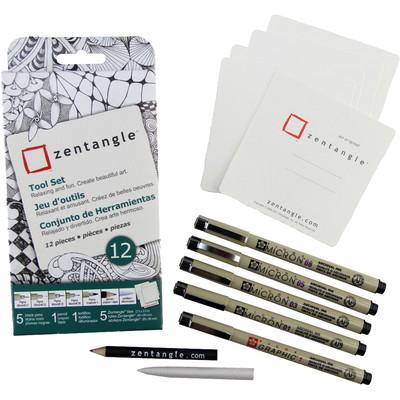 "Zentangle Tool Set, 3.5"" White Tile (12 pc)"