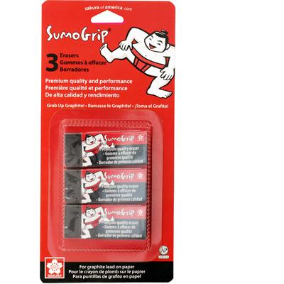 Sumo Grip Eraser, Premium Block Eraser - B80 Size (3 pc)