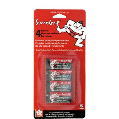 Sumo Grip Eraser, Premium Block Eraser - B60 Size (4 pc)
