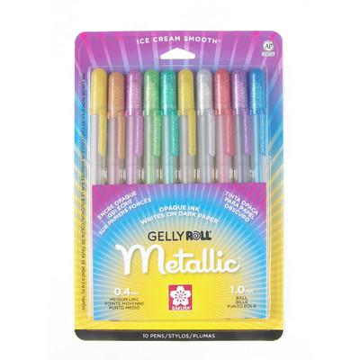 Gelly Roll Metallic Pen Set, Asst (10 pk)