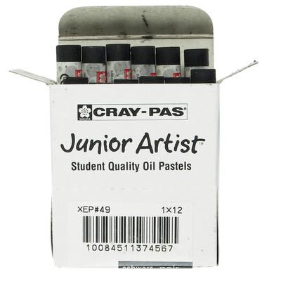 Cray-Pas Junior Artist Oil Pastel Set, Black (12 Sticks/Box)
