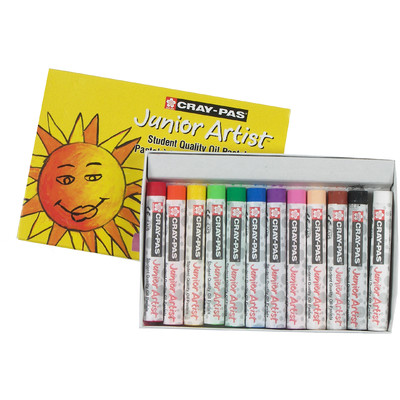 Cray-Pas Junior Artist Oil Pastel Set, 12 Colors (12 pc)