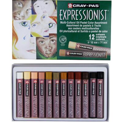 Cray-Pas Expressionist Oil Pastel Set, Multi Cultural (12 pc)