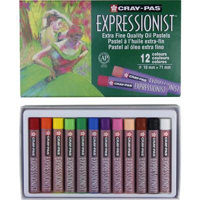 Cray-Pas Expressionist Oil Pastel Set, 12 Colors (12 pc)
