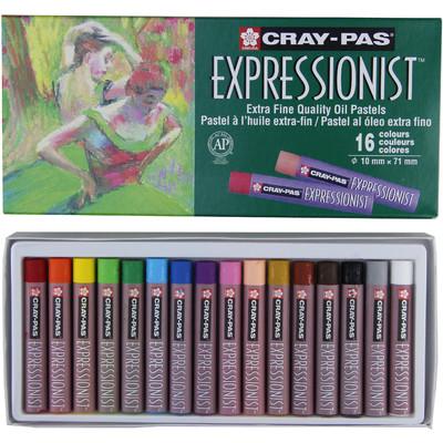Cray-Pas Expressionist Oil Pastel Set, 16 Colors (16 pc)