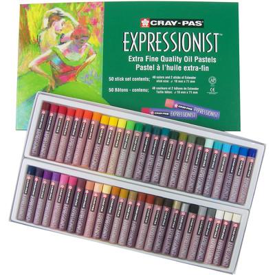 Cray-Pas Expressionist Oil Pastel Set, 48 Colors (50 pc)