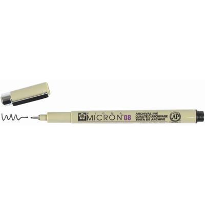 Pigma Micron 08 Pen, 0.50mm - Black
